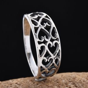 NEW Size 7 Sterling Silver Openwork Heart Ring